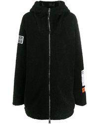 Heron Preston オーバーサイズ フーデッドコート - ブラック