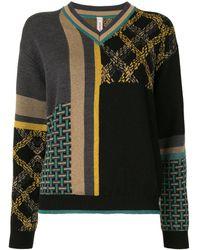 Antonio Marras パターン セーター - ブラック