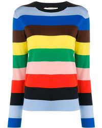 Chinti & Parker - Striped Crew-neck Pullover - Lyst