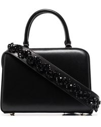 Simone Rocha Crystal-embellished Box Bag - Black