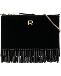 Rochas Rob Clutch Bag - Black