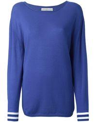 Golden Goose Deluxe Brand Striped cuff sweater - Blu