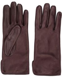 MSGM Leather Driving Gloves - Brown