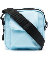 MSGM Micro Logo Messenger Bag - Blue