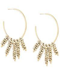 Aurelie Bidermann 'Mia' hoop earrings - Metallizzato