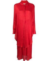 Mara Hoffman Многослойное Платье-рубашка - Красный