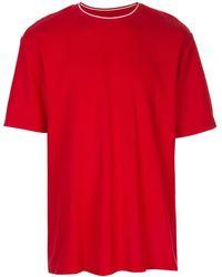 Supreme Stripe Rib Waffle T-shirt - Red