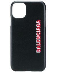Balenciaga Logo-print Iphone 11 Case - Black