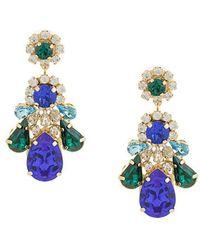 Shourouk - Crystal Drop Earrings - Lyst