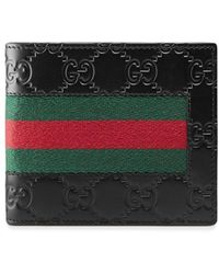 Gucci Signature Web Wallet - Black