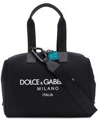 Dolce & Gabbana Bolso de viaje con logo estampado - Negro