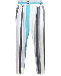 Dolce & Gabbana ストライプ テーパードパンツ - ブルー