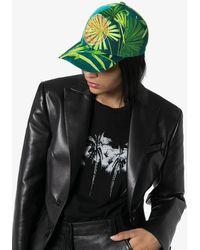 Versace Бейсболка С Принтом И Вышивкой Medusa - Зеленый