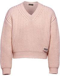 Prada チャンキーニット セーター - ピンク