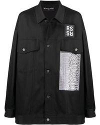 Raf Simons Joy Divison オーバーサイズ シャツジャケット - ブラック