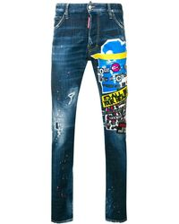 DSquared² Mid Rise Skinny Jeans - Blauw