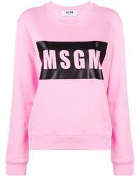 MSGM Logo Sweatshirt - Розовый