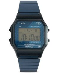 Timex Reloj T80 digital de 34mm - Azul