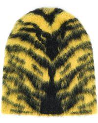 Laneus Animal Pattern Hat - Yellow