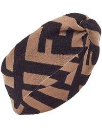 Fendi FF motif hairband - Noir