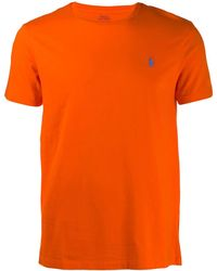 Polo Ralph Lauren Embroidered logo T-shirt - Naranja