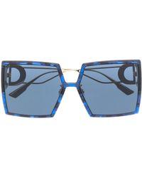 Dior Массивные Солнцезащитные Очки 30montaigne - Синий
