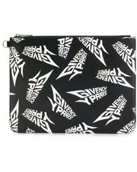 Givenchy Clutch Met Logoprint - Zwart