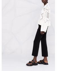 Holzweiler Pantalones capri de talle alto - Negro