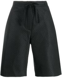 Dior Pre-owned Quilted Long Shorts - Black