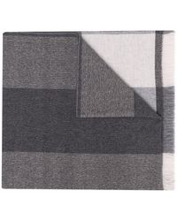 Liska カラーブロック カシミア スカーフ - グレー