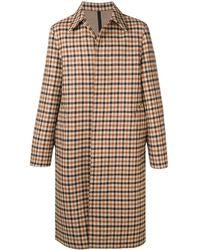 AMI Bonded Mac Coat - Brown