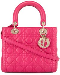 Dior Pre-owned Lady Dior Cannage 2way Hand Bag - Pink