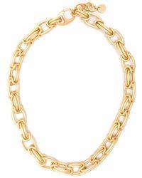 Ports 1961 Big Empty Chain Necklace - Metallic