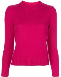 Co. Fitted Round-neck Sweater - Pink
