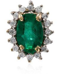Yvonne Léon - 18k Yellow Gold Emerald Diamond Singular Earring - Lyst