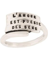 Thoraval - Anello 'bague Poesie' - Lyst