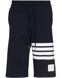 Thom Browne Shorts con quattro righe - Blu