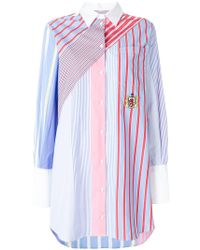 Tommy Hilfiger - Striped Shirt Dress - Lyst