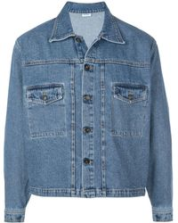 Second/Layer Boxy Denim Jacket - Blue