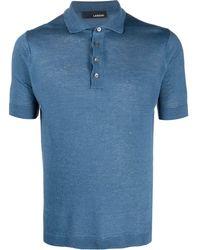 Lardini ショートスリーブ ポロシャツ - ブルー