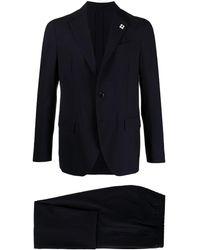 Lardini シングル ツーピーススーツ - ブルー