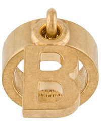 Balenciaga B Logo Ring - Metallic