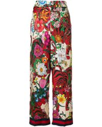 Gucci - Floral Print Trousers - Lyst