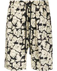 Nanushka Floral-print Shorts - Multicolor