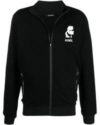 Karl Lagerfeld ロゴ スウェットシャツ - ブラック