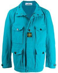 Stone Island Легкая Куртка С Капюшоном - Синий