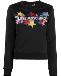 Love Moschino - スター スウェットシャツ - Lyst