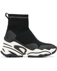 Ash Ankle-sock Wedge Trainers - Black