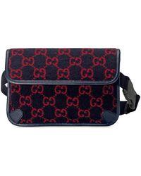 Gucci Monogram Print Belt Bag - Blue