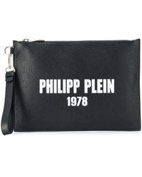 Philipp Plein Фактурный Клатч - Черный